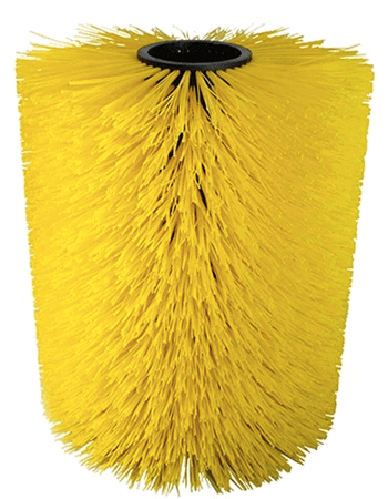 """Cow brush Cylinder shape yellow"""