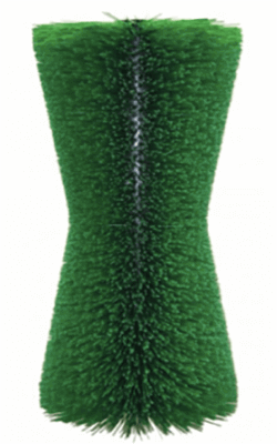 """Cow massager brush hourglass shape green"""