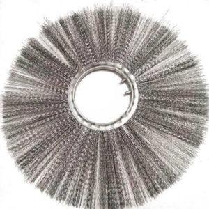"""flat, steel wire filaments snow sweeper brush"""